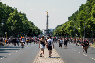 Counter-protest against the demonstration of the AFD / Alternative for Germany (German: Alternative für Deutschland, AfD), a right-wing to far-right political party in Germany