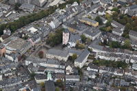 Aerial Photo of the city of Siegen with Nikolai church