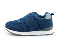 Blue suede kids sports shoe