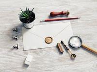 Retro stationery, envelope