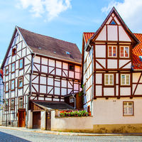 Old fachwerk houses in Quedlinburg