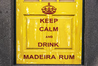 Madeira Rum, painted front door, Funchal, Madeira, Portugal, Europe