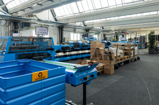 Folding Machines in Printing Production Factory Industrial Equipment
