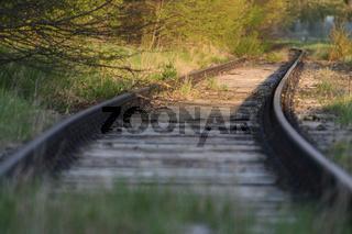 Disused railway tracks