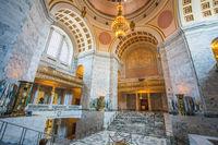 Olympia at Seattle Washington USA on July 5, 2018. Hall at the Washington State Capitol Olympia
