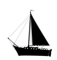 Sailing yacht silhouette 2