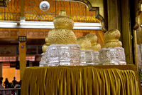 Golden Buddha Figures in the Phaung Daw U Pagoda at Inle Lake in Myanmar
