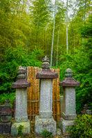 graveyard in Arashiyama bamboo forest, Kyoto, Japan