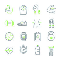 line icon fit and healthy.eps