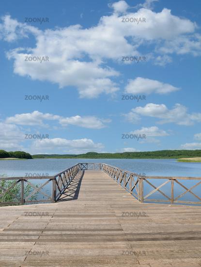 Lake Schmachter See in Binz,Ruegen,baltic Sea,Mecklenburg western Pomerania,Germany