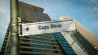 Street Sign to Copy Shop