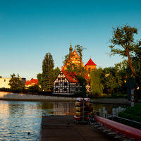 Bydgoszcz St. Martin and St. Nicholas Cathedral and Mill Island