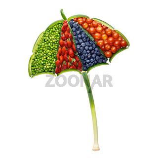 Vegetable umbrella.