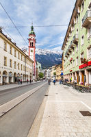 Old alpine town of Innsbruck