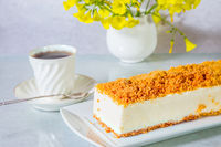 Gorgeous cheesecake with crumbs