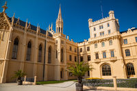 LEDNICE, CZECH REPUBLIC - SEPTEMBER 5, 2012: The beautiful Lednice Chateau in southern Moravia in the Czech Republic
