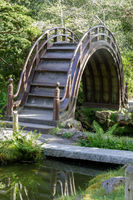 The Arched Drum Bridge in the Japanese Tea Garden in Golden Gate Park.
