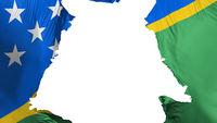 Solomon Islands flag ripped apart