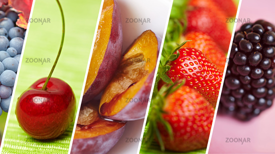 Bunte Sorten Obst als Header Hintergrund