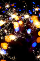 festive sparkler bokeh background