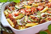 Pasta and zucchini casserole