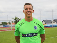 Goalkeeper Alexander Brunst (1.FC Magdeburg, DFB 3.Liga Season 2019-20)