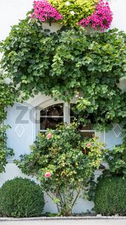 Traditionelles Fenster mit Laden