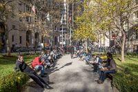 Bowling Green Park in Manhattan, New York City