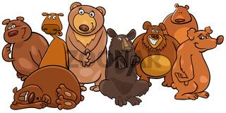 Funny bears cartoon animal characters