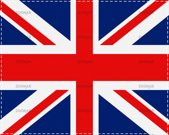 Fahne von Grossbritannien auf Gewebe - Flag of Great Britain on cloth