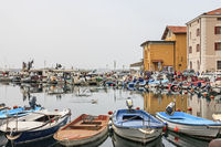 fishing harbor in Piran
