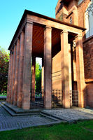 Tomb of Immanuel Kant at sunset. Kaliningrad, Russia