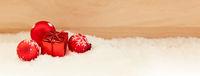 Geschenk zu Weihnachten als Hintergrund Banner