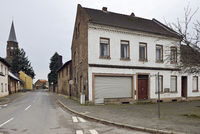 Manheim, church St. Albertus and abandoned houses after resettlement to give way fo RWE surface mine