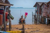 Houses on pillars, Koh Lanta island, Thailand