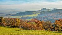 Hegau,  vulcanic landscape in the autumn