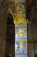 Frescos in the orthodox rock-hewn church Abuna Gebre Mikael,  Gheralta, Tigray, Ethiopia