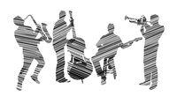 Music group black on white