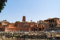 Voices from the colosseum, Trajan's markets, Rome, Italy.