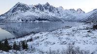 Winterlandschaft auf den Lofoten, Norwegen