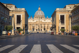 Cupola of Saint Peter Cathedral in Vatican