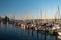 KIEL, GERMANY - JUNE 22, 2019: During the Kieler Woche 2019 the  Naval Base of Kiel arranged an Open