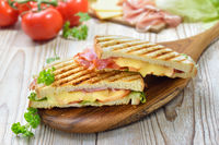 Sandwich from the plate grill