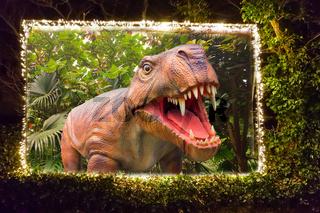 Billboard with a dinosaur