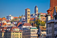 Zurich landmarks and cityscape colorful view