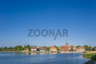 Stadtansicht am Neustädter Binnenwasser in Neustadt in Holstein
