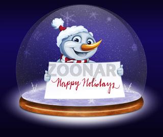 Merry Christmas greeting card.