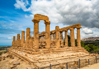Temple of Juno in the Valley of the Temples, Agrigento, Sicily, Italy