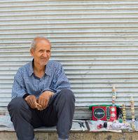 Man sell street Tehran Iran