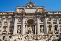 Trevi fountain, detail, Rome, Italy.